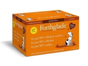 Forthglade Just Poultry Multipack - Chicken, Chicken & Liver and Turkey 390gx12