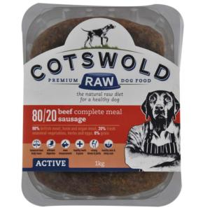 Cotswold Raw Active Sausage Beef - 1kg