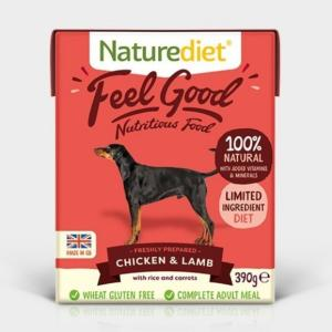 Naturediet Feel Good Adult Chicken and Lamb 390gx18