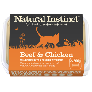 Natural Instinct Cat Beef & Chicken 500gx2