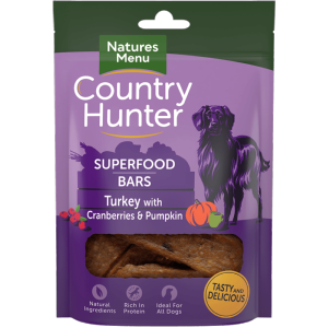 Country Hunter Superfood Bar Turkey with Pumpkin & Cranberries 100g