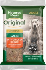 Natures Menu Lamb with Chicken 300gx12