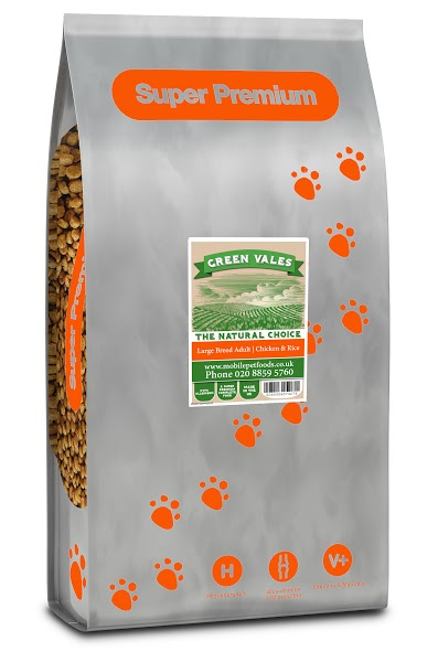 Green Vales Large Breed Chicken & Rice 12kg
