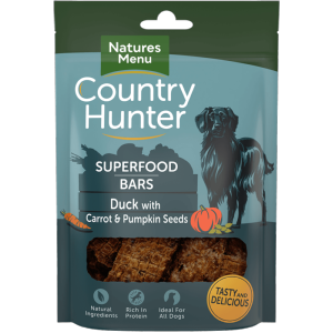 Country Hunter Superfood Bar Duck with Carrot & Pumpkin Seeds 100g