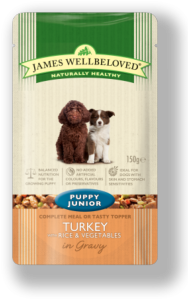 James Wellbeloved Pouch Puppy Turkey 150gx10