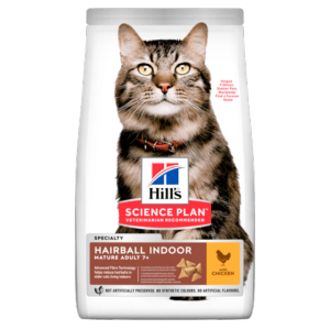 Hills Cat Mature 7+ Hairball Indoor 1.5kg