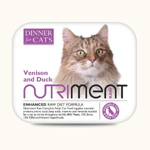 Nutriment Dinner for Cats - Venison and Duck 175g
