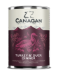 Canagan Turkey & Duck Dinner Dog Can 400gx6