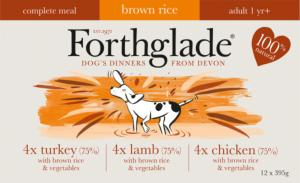Forthglade Complete Adult With Rice Multipack 395gx12