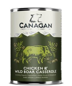 Canagan Chicken & Wild Boar Dog Can 400gx6