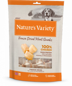 Natures Variety Freeze Dried Meat Chunks Chicken 200g