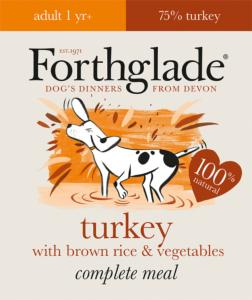 Forthglade Complete Adult Turkey & Brown Rice 395g