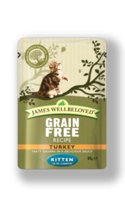 James Wellbeloved Kitten Pouch Turkey 85gx12