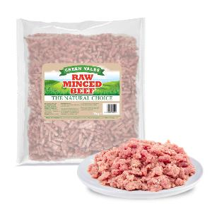 Green Vales Raw Minced Beef 1kg