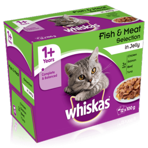 Whiskas Pouch Meat & Jelly 1+ 12x100g